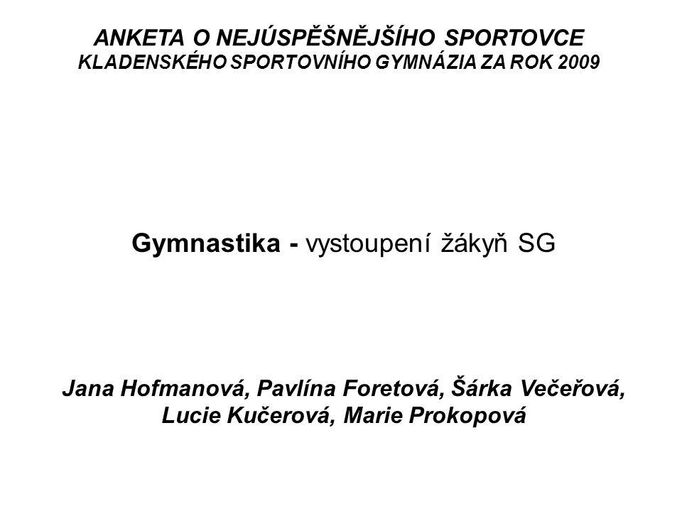 Gymnastika - vystoupení žákyň SG