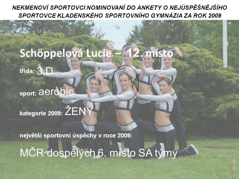 Schöppelová Lucie – 12. místo