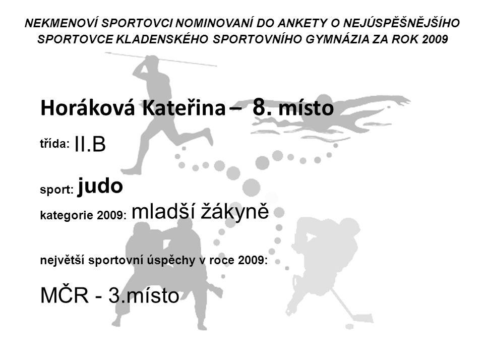 Horáková Kateřina – 8. místo