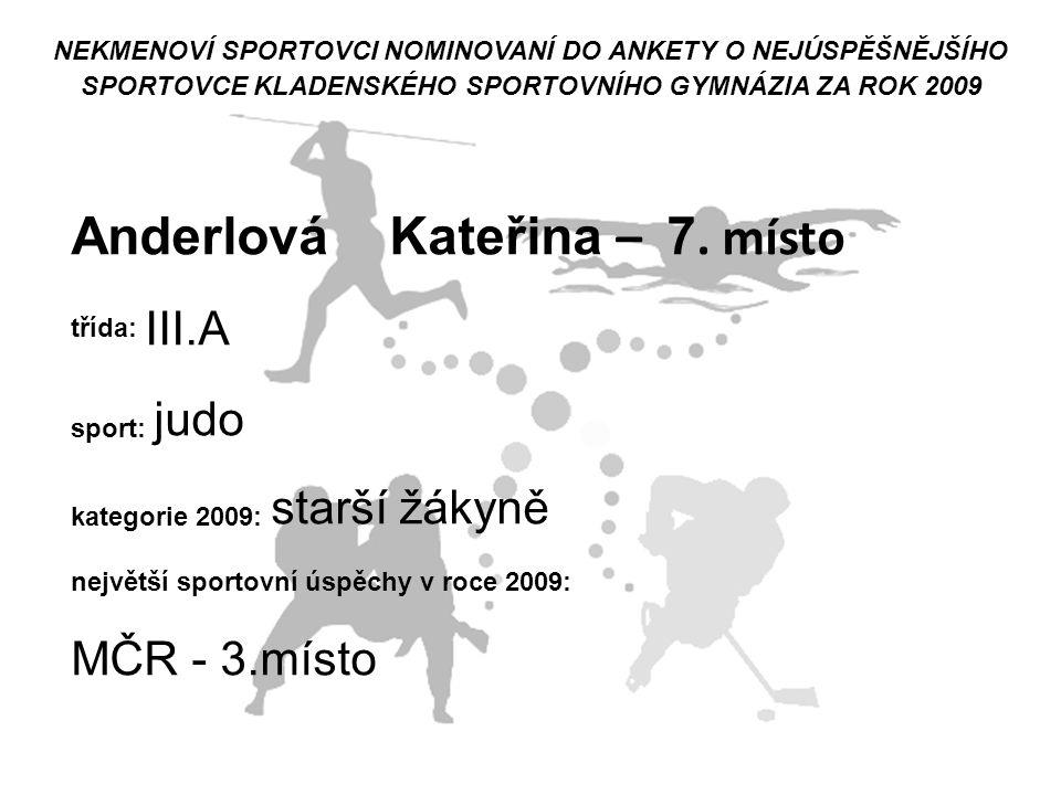 Anderlová Kateřina – 7. místo