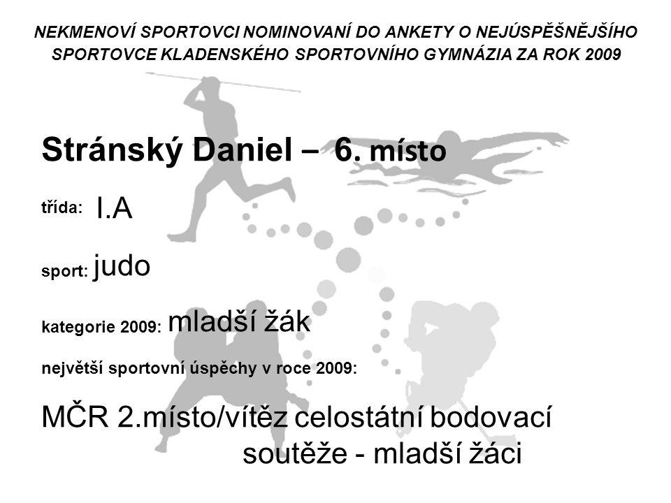 Stránský Daniel – 6. místo