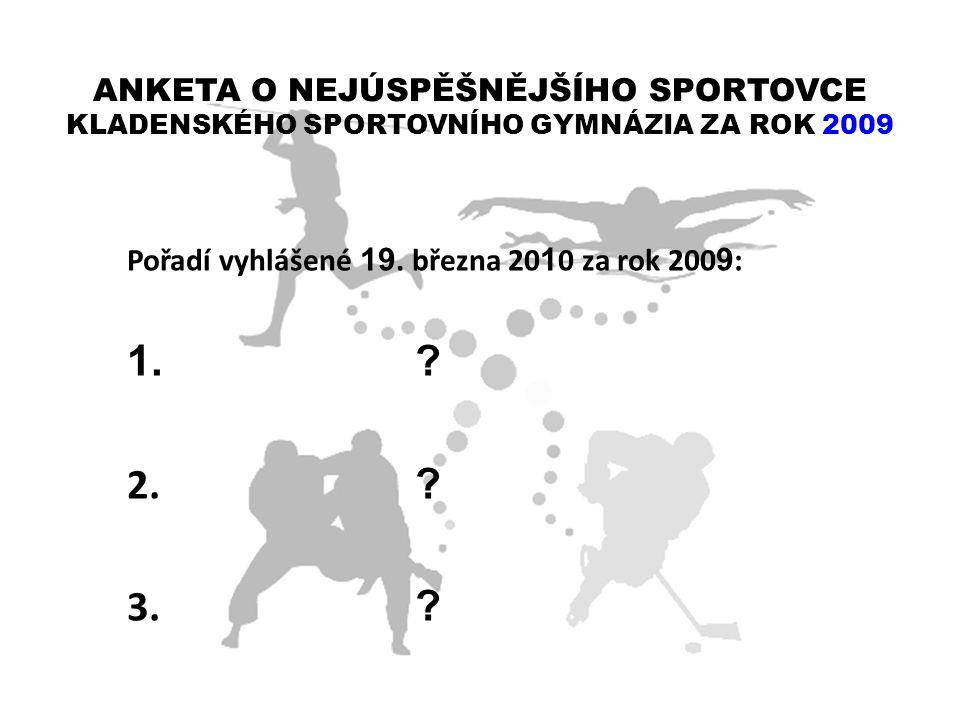 ANKETA O NEJÚSPĚŠNĚJŠÍHO SPORTOVCE KLADENSKÉHO SPORTOVNÍHO GYMNÁZIA ZA ROK 2009