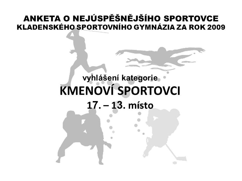 KMENOVÍ SPORTOVCI 17. – 13. místo