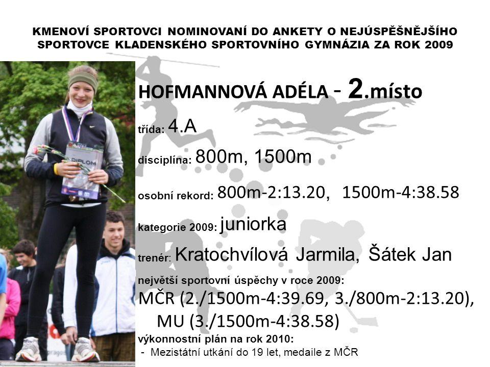 HOFMANNOVÁ ADÉLA - 2.místo