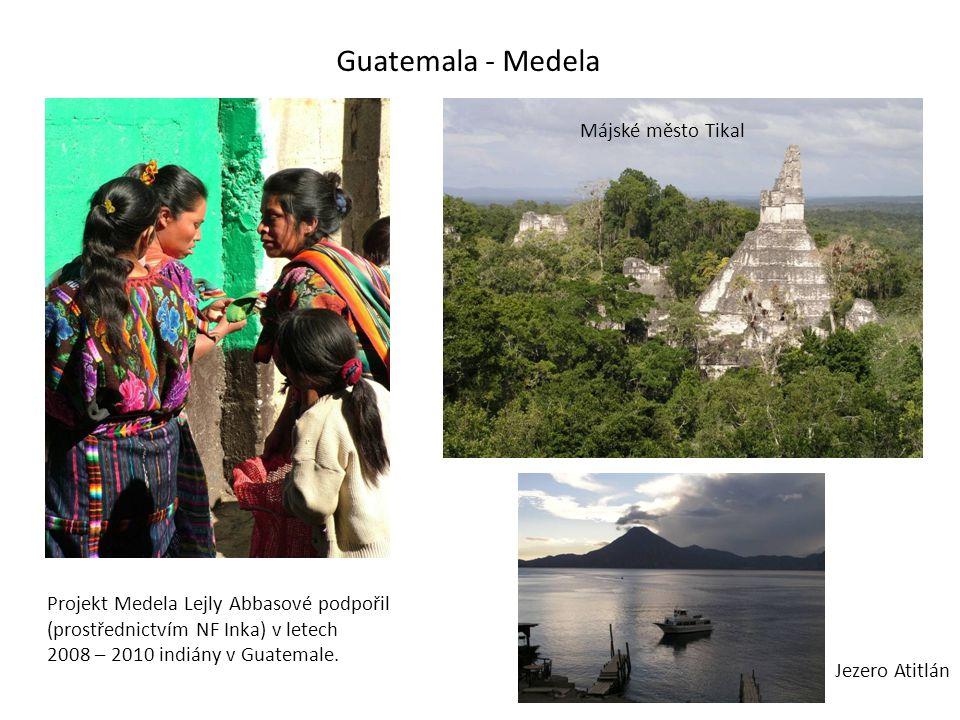 Guatemala - Medela Májské město Tikal