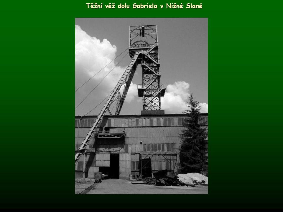 Těžní věž dolu Gabriela v Nižné Slané