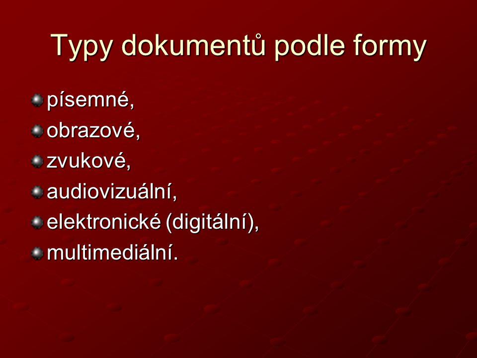 Typy dokumentů podle formy