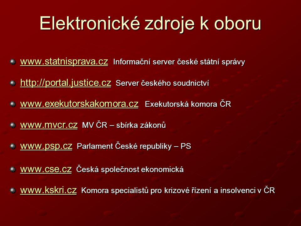Elektronické zdroje k oboru