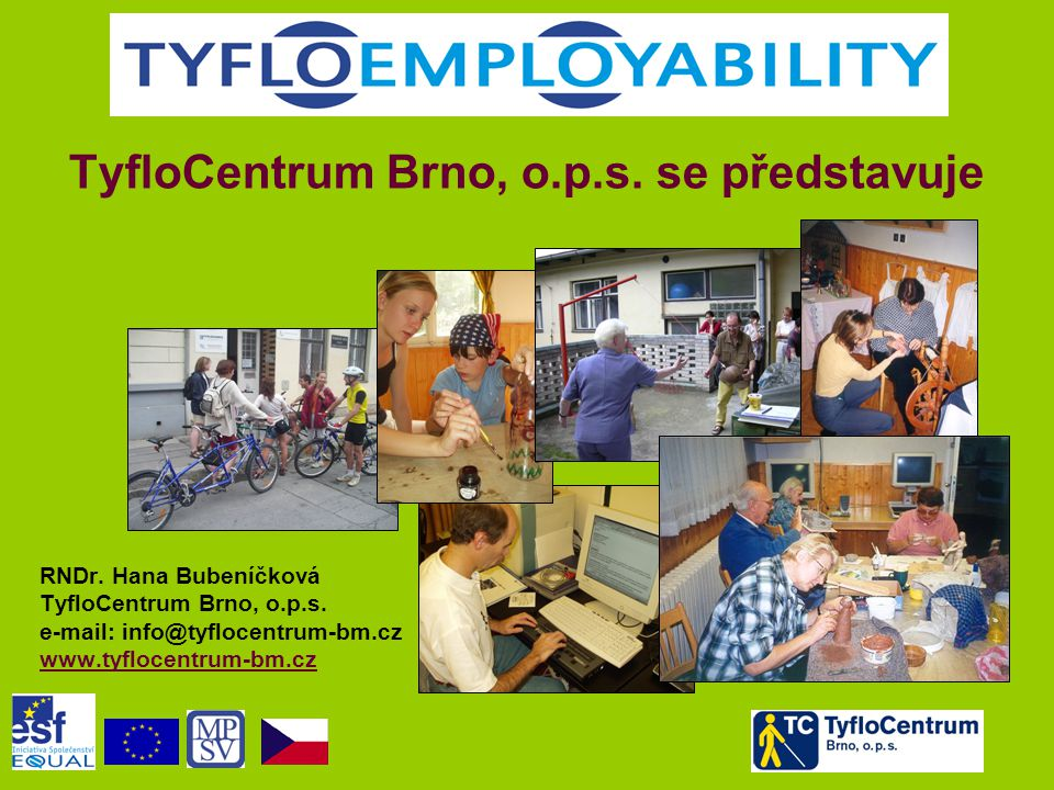 TyfloCentrum Brno, o.p.s. se představuje