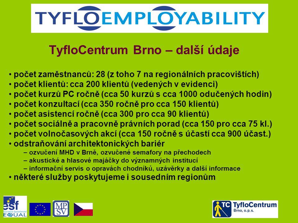 TyfloCentrum Brno – další údaje
