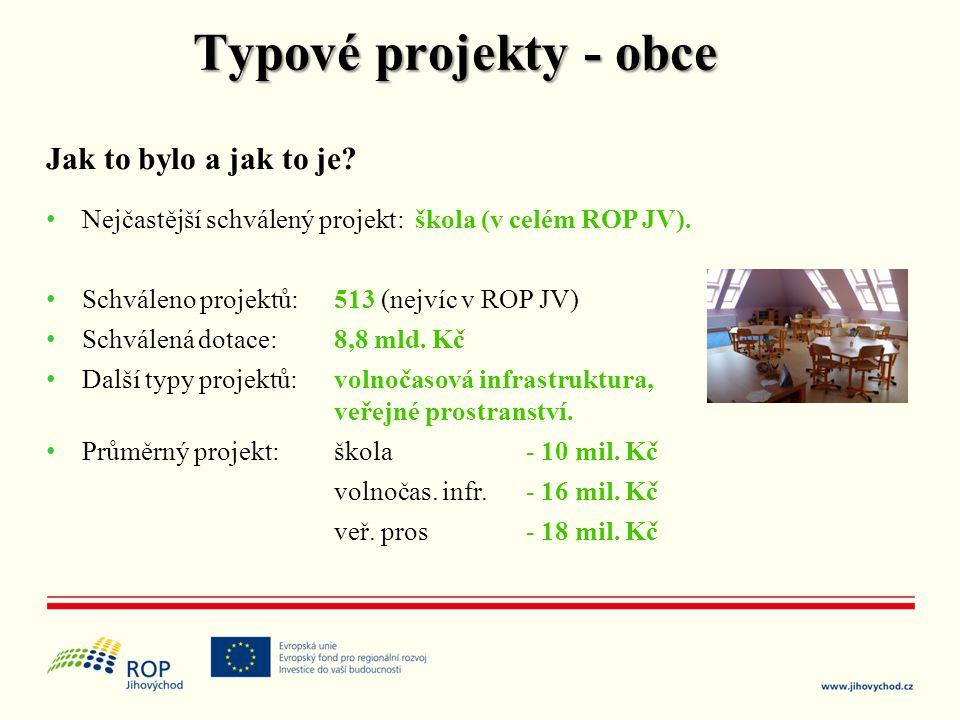 Typové projekty - obce Jak to bylo a jak to je
