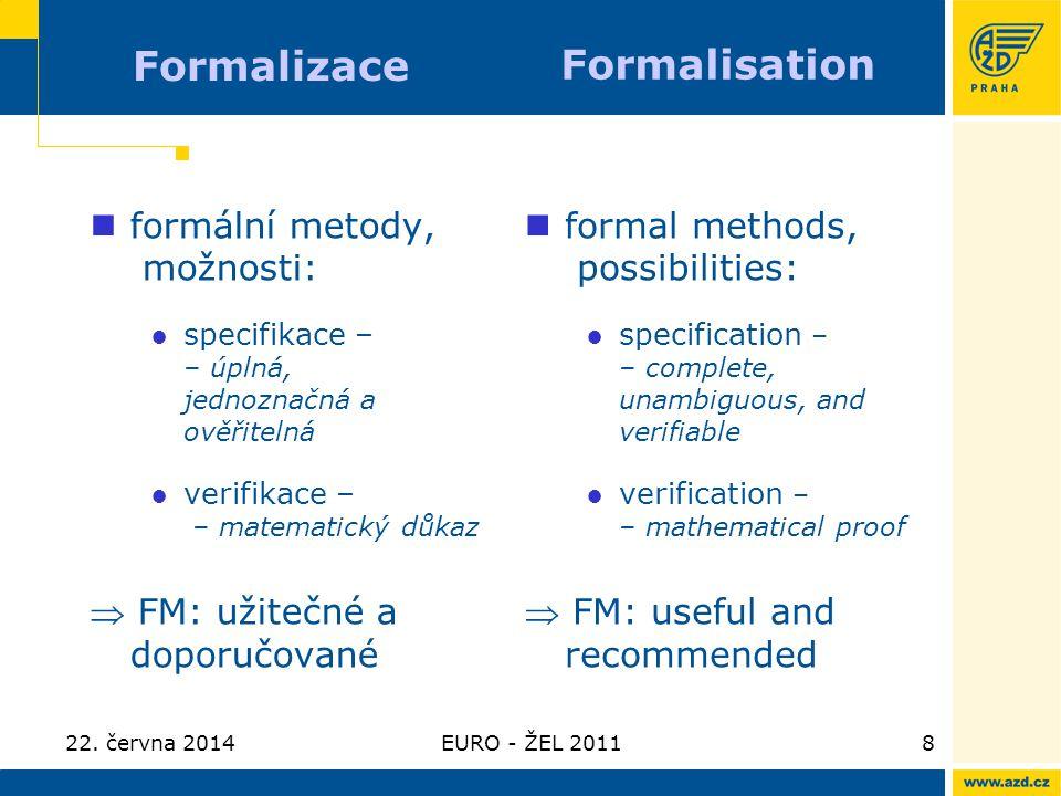 Formalizace Formalisation