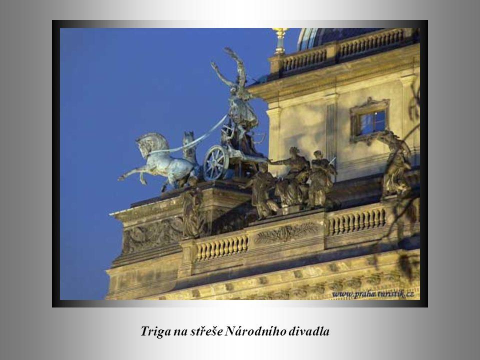 Triga na střeše Národního divadla
