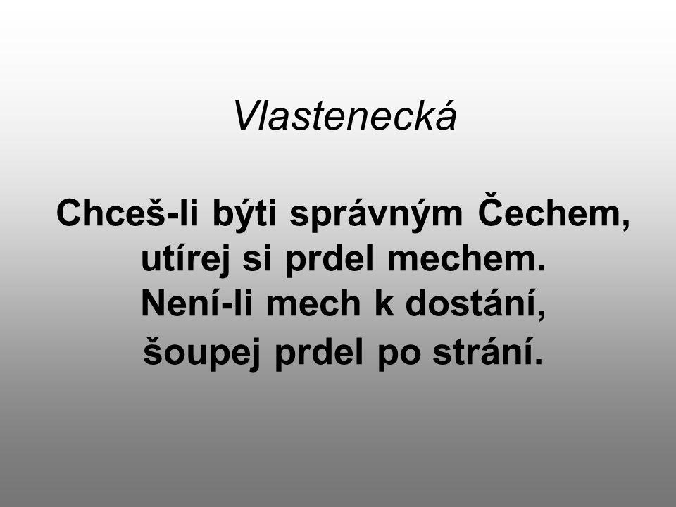 Vlastenecká Chceš-li býti správným Čechem, utírej si prdel mechem