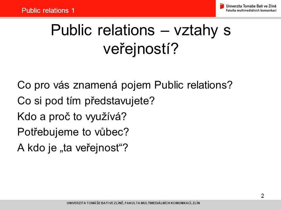Public relations – vztahy s veřejností