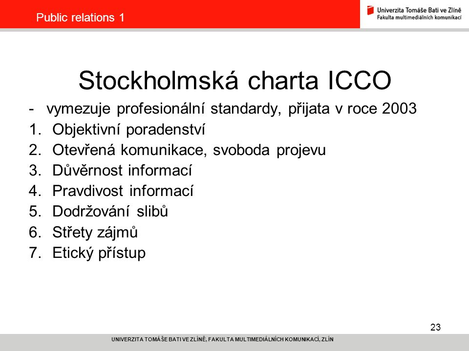 Stockholmská charta ICCO