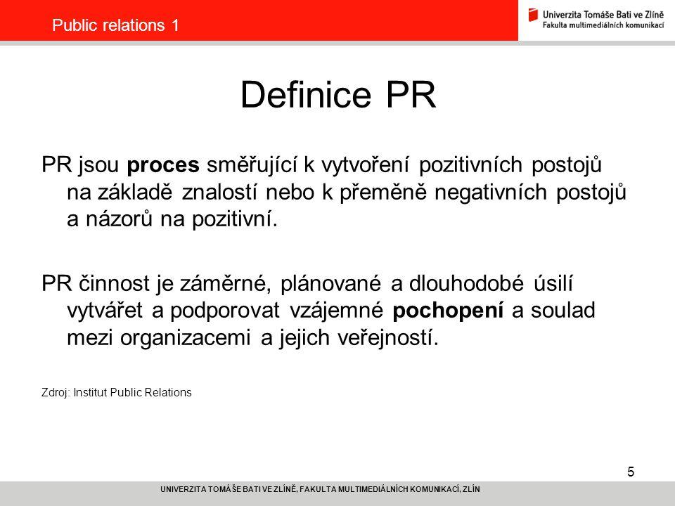 Public relations 1 Definice PR.