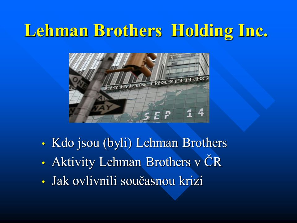 Lehman Brothers Holding Inc.