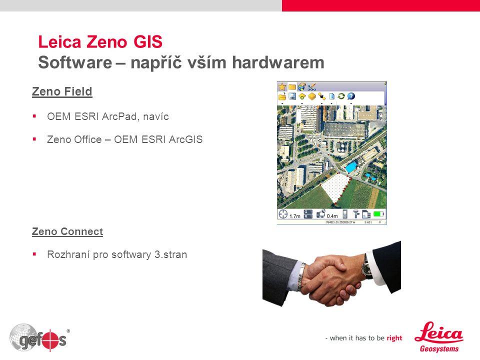 Leica Zeno GIS Software – napříč vším hardwarem