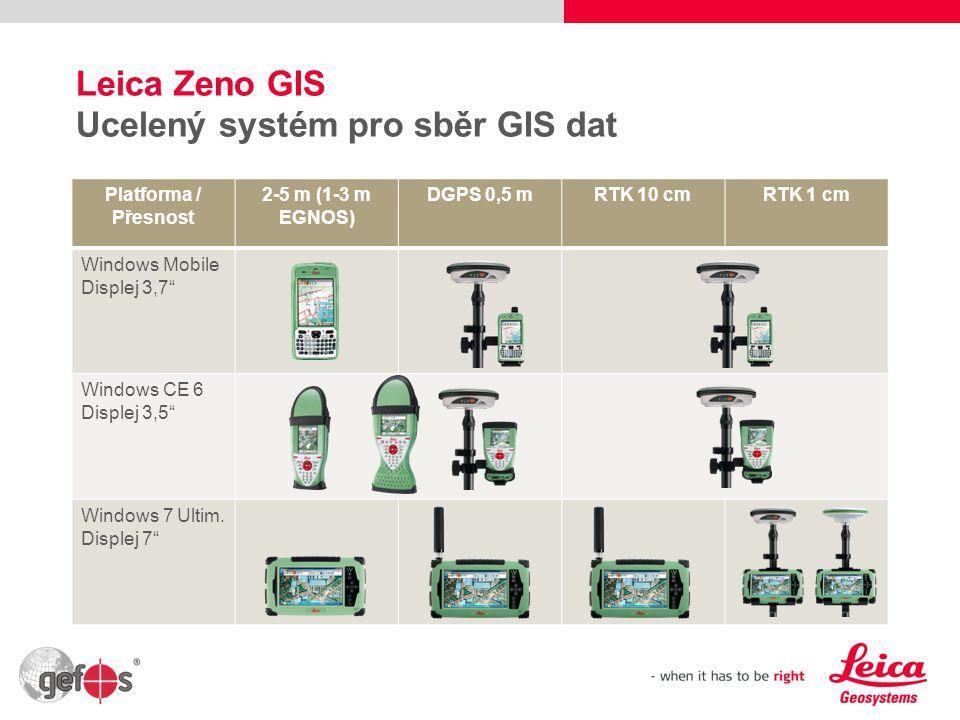 Leica Zeno GIS Ucelený systém pro sběr GIS dat