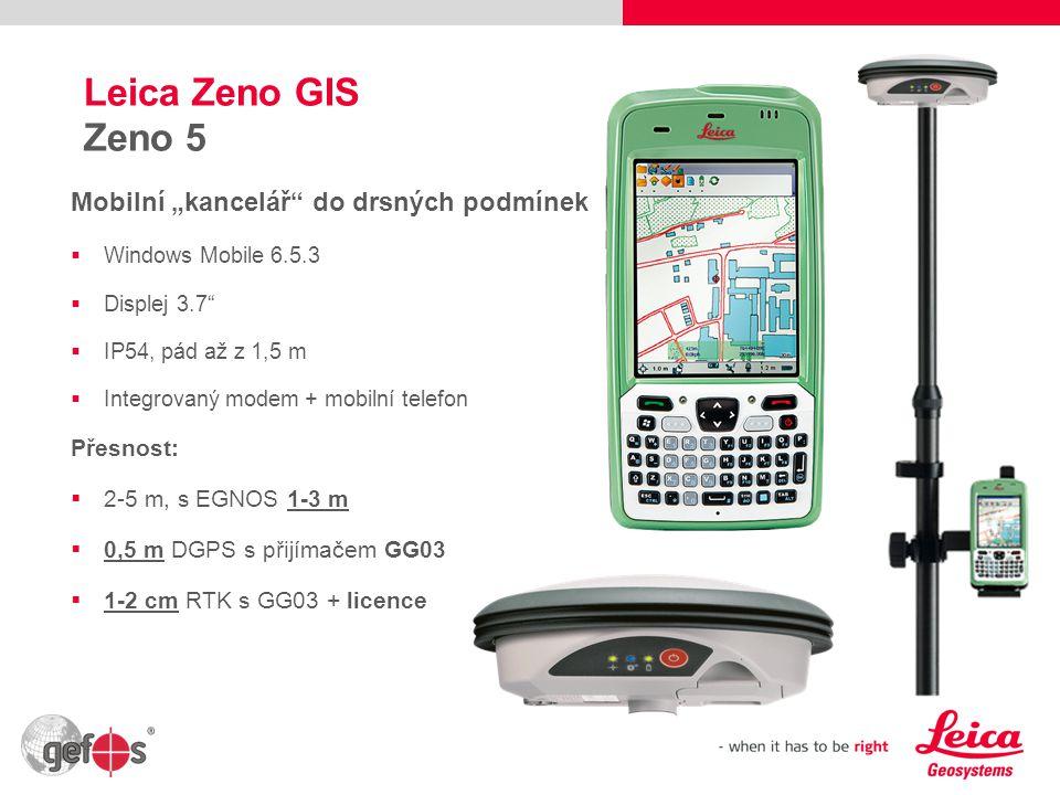 """Leica Zeno GIS Zeno 5 Mobilní """"kancelář do drsných podmínek Přesnost:"""