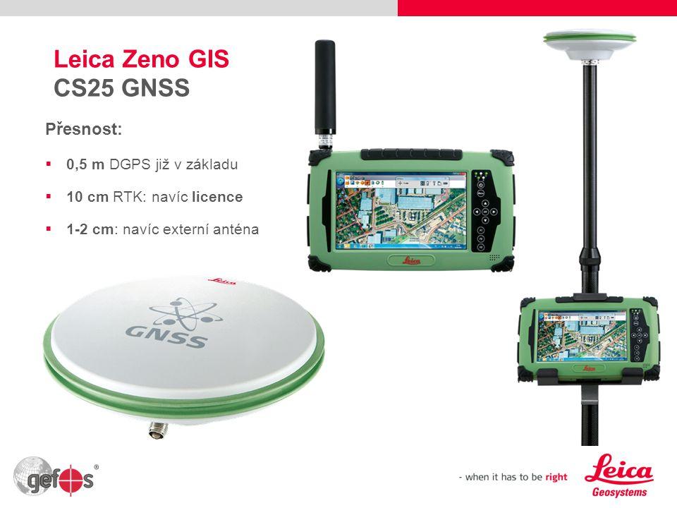 Leica Zeno GIS CS25 GNSS Přesnost: 0,5 m DGPS již v základu