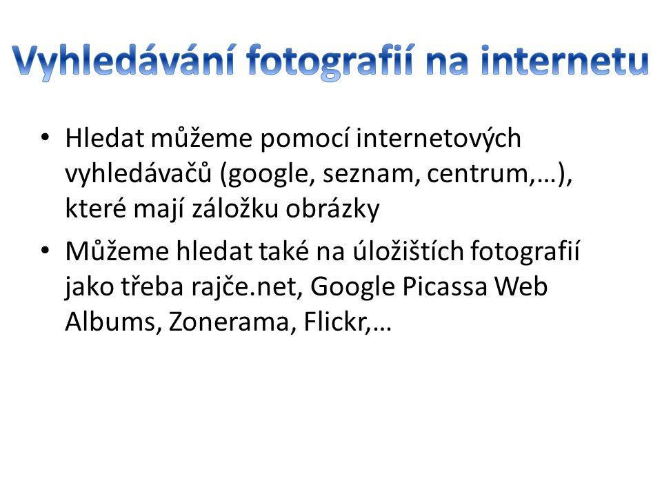 Vyhledávání fotografií na internetu