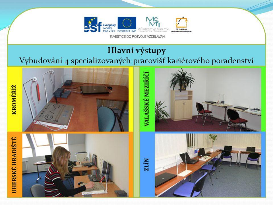 Vybudování 4 specializovaných pracovišť kariérového poradenství