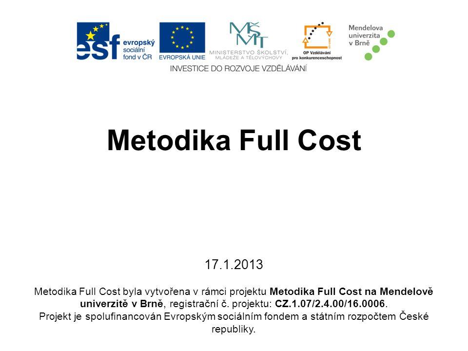 Metodika Full Cost 17.1.2013
