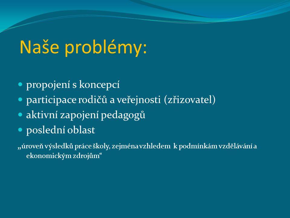 Naše problémy: propojení s koncepcí
