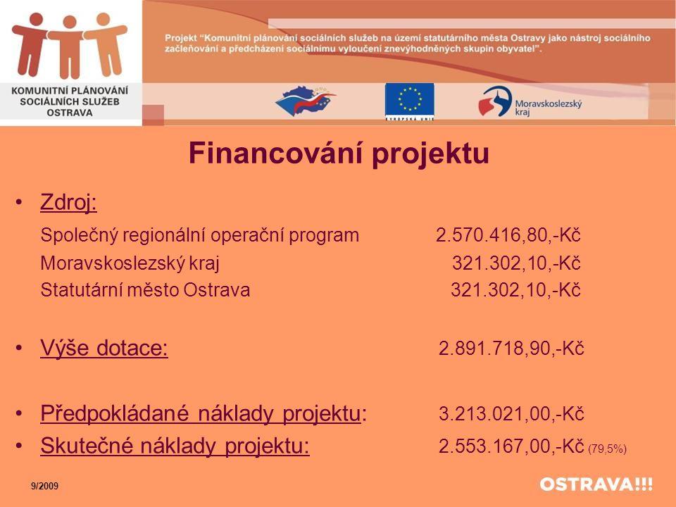 Financování projektu Zdroj: