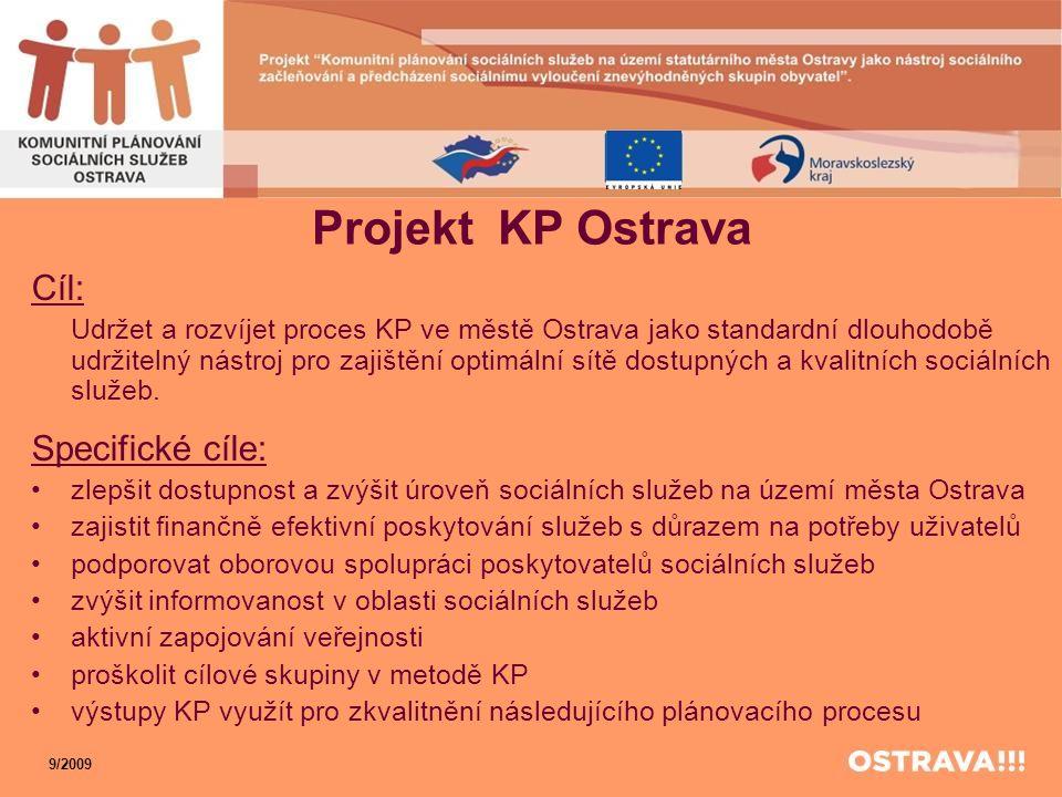 Projekt KP Ostrava Cíl: Specifické cíle: