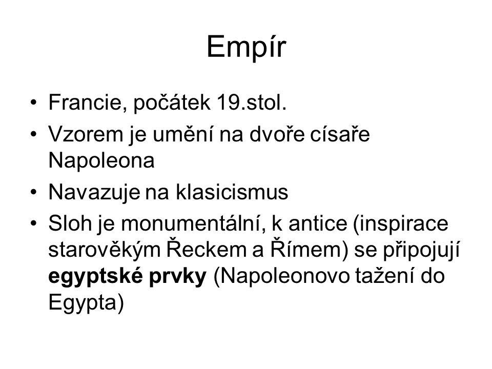 Empír Francie, počátek 19.stol.