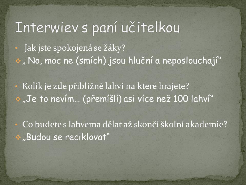Interwiev s paní učitelkou