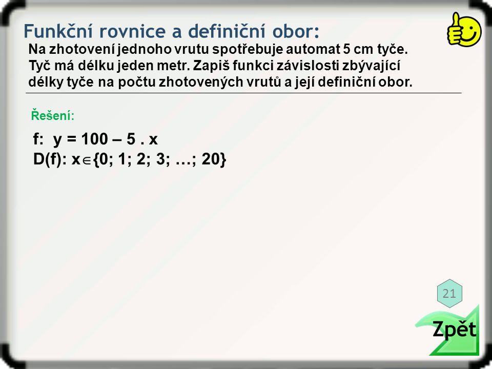 Funkční rovnice a definiční obor: