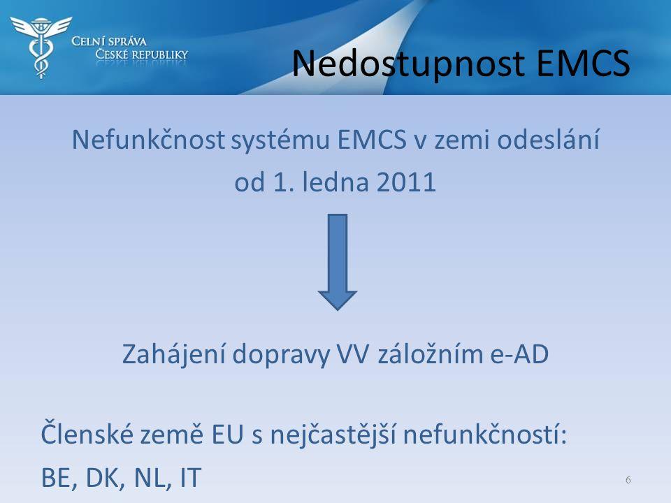 Nedostupnost EMCS