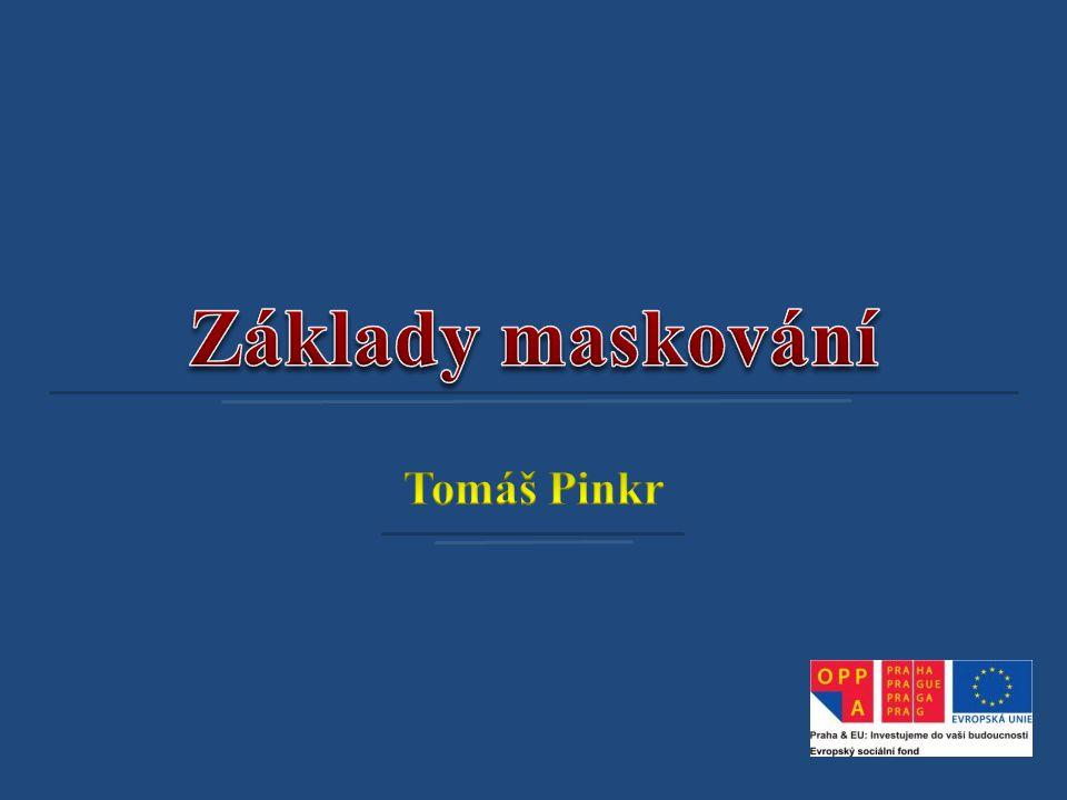 Základy maskování Tomáš Pinkr