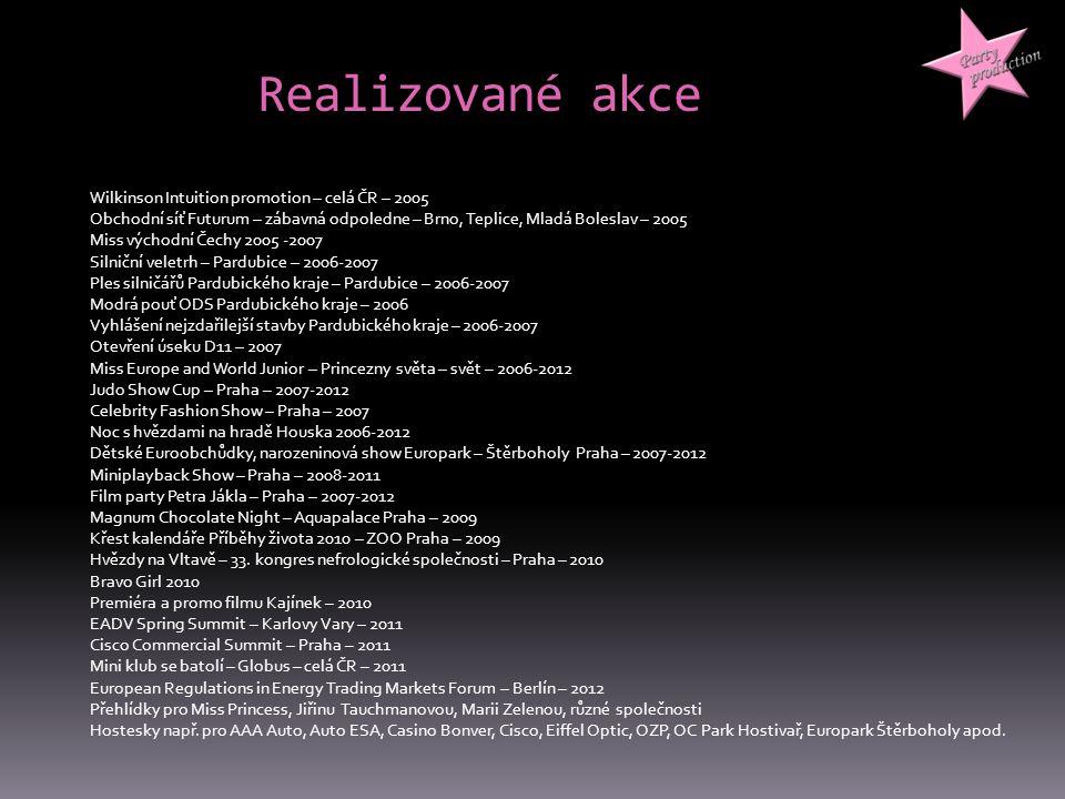 Realizované akce Wilkinson Intuition promotion – celá ČR – 2005