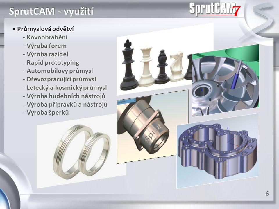 SprutCAM - využití • Průmyslová odvětví - Kovoobrábění - Výroba forem