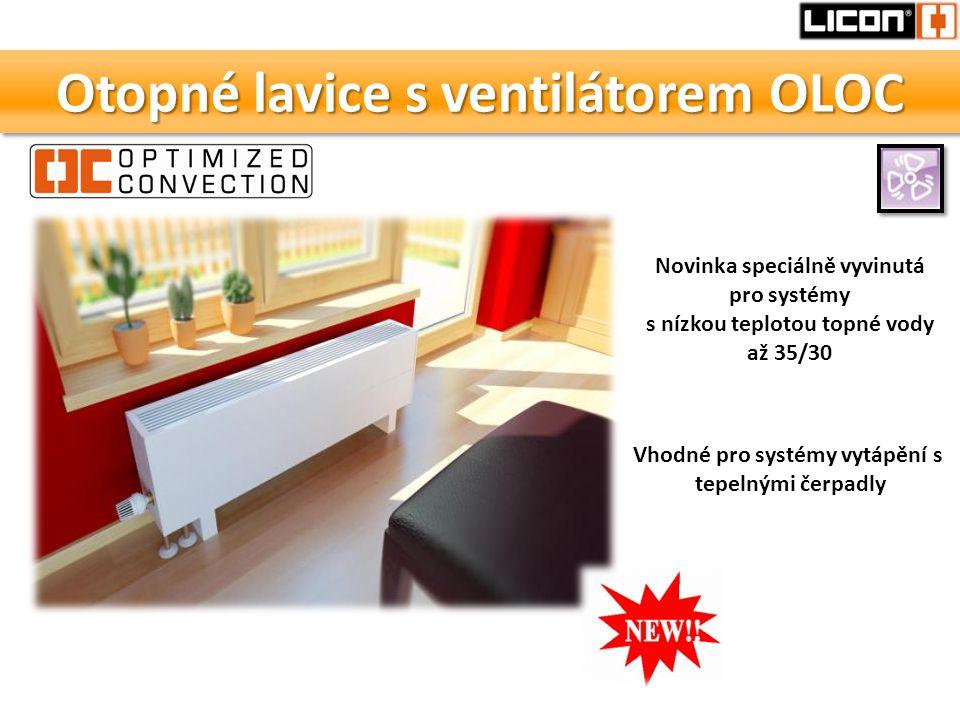 Otopné lavice s ventilátorem OLOC