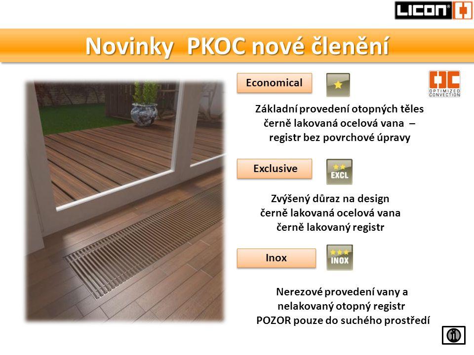 Novinky PKOC nové členění