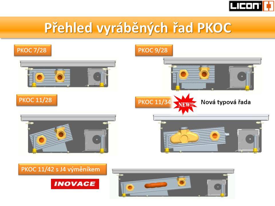 Přehled vyráběných řad PKOC