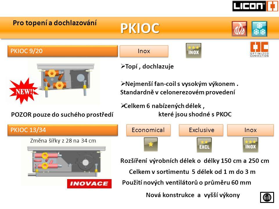PKIOC Pro topení a dochlazování PKIOC 9/20 Inox Topí , dochlazuje