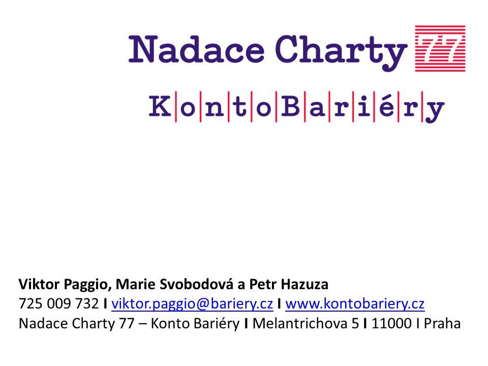 Viktor Paggio, Marie Svobodová a Petr Hazuza