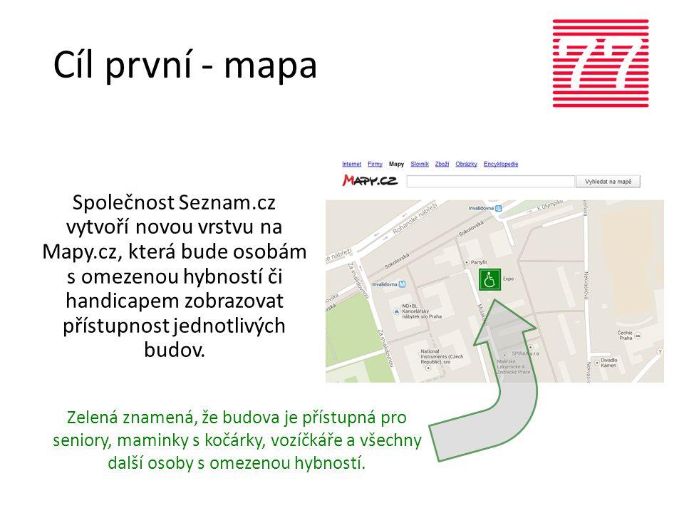 Cíl první - mapa