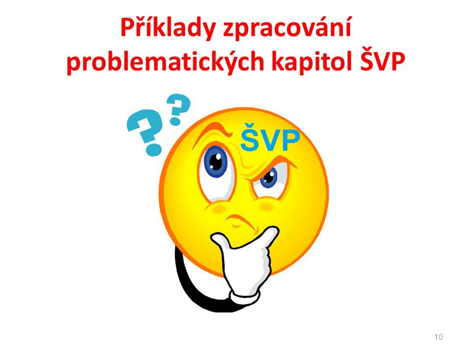 Příklady zpracování problematických kapitol ŠVP