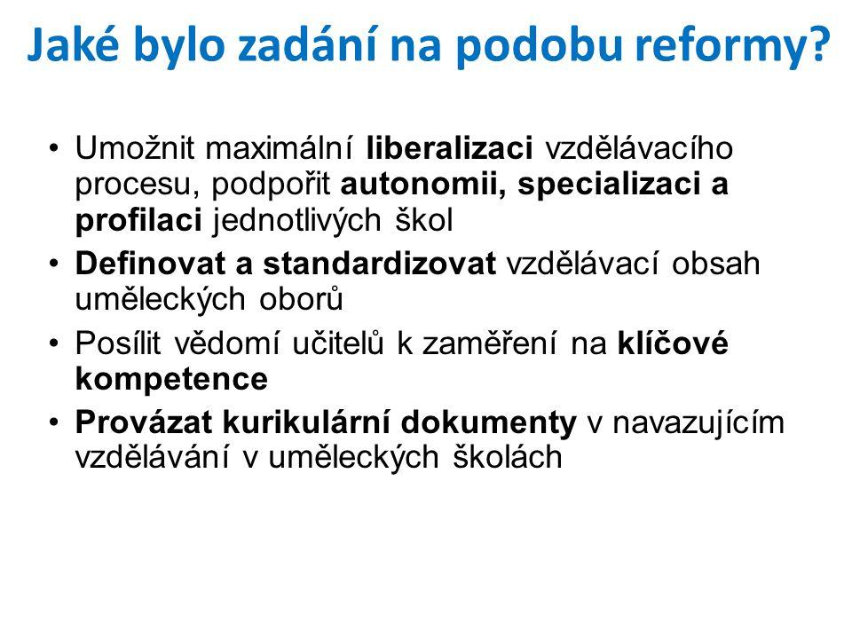 Jaké bylo zadání na podobu reformy