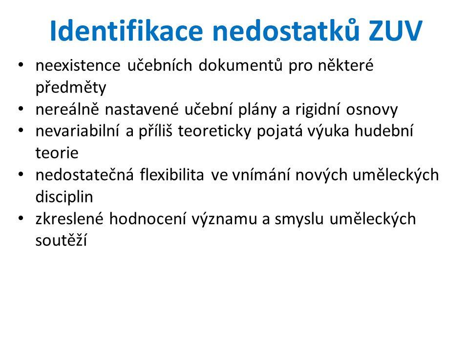 Identifikace nedostatků ZUV