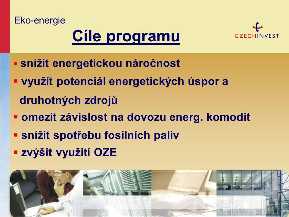 Eko-energie Cíle programu