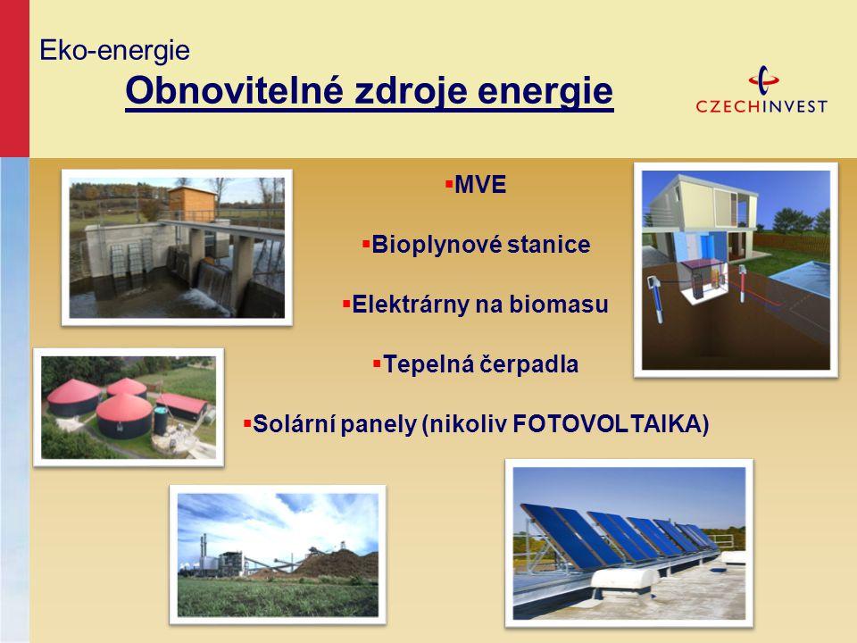 Eko-energie Obnovitelné zdroje energie